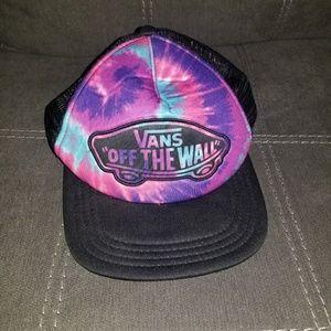 Tie Dye Vans Flat Rimmed Adjustable Hat